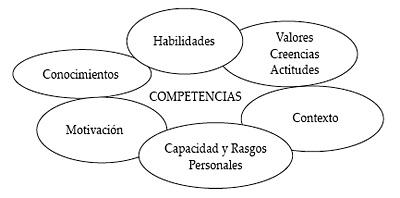 Componentes de las competencias en una organización