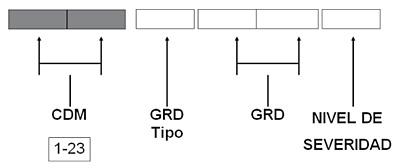 Códigos de los IR-GRDs